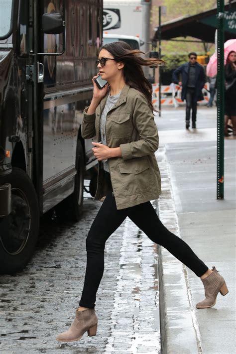 nina dobrev  tight jeans   nyc
