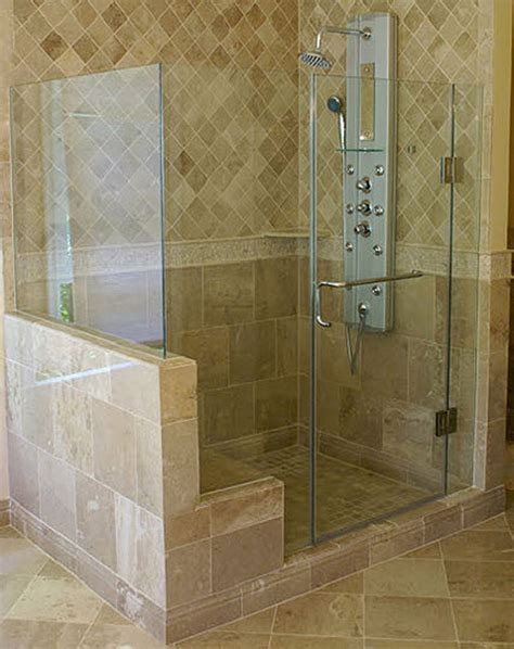 Frameless Steam Shower Doors Inline Frameless Shower Enclosure Frameless Steam Shower Va