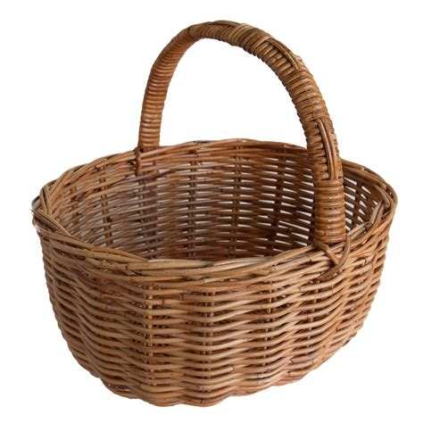 Rattan Cary classic oval wicker shopping basket