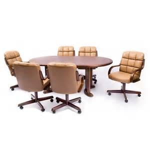 5pc Casual Dining Table And Chairs Set In Brown Walnut Finish 5 Pc Douglas Casual Living Joan Collection Rounded Ends