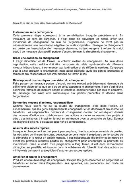 Conduite du Changement: Guide Méthodologique