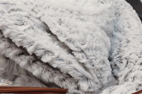 white faux fur comforter silver white faux mink fur comforter