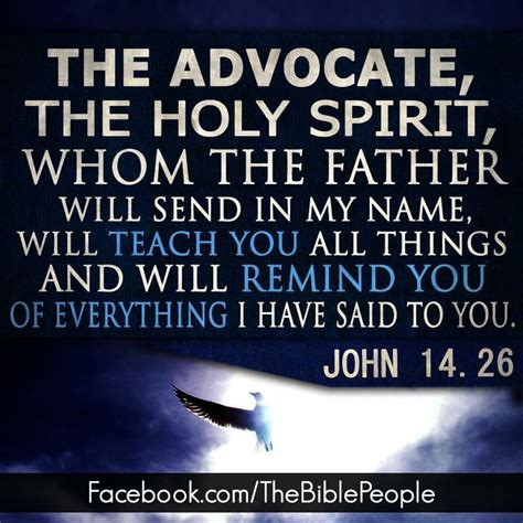 the holy spirit the comforter john 14 26 bible verses quotes sayings pinterest