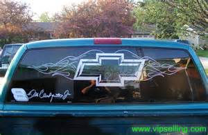 chevrolet chevy bowtie rear window decal