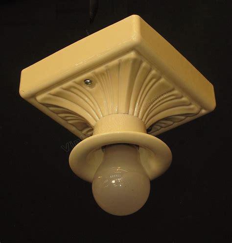 porcelain light fixture yellow porcelain fixture