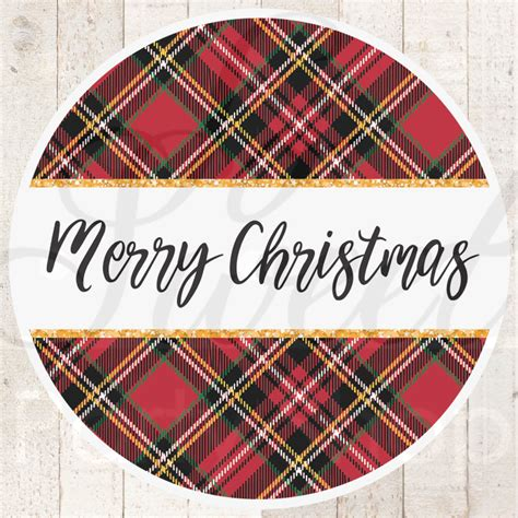 plaid merry christmas stickers gift tags christmas labels happy holidays stickers envelope