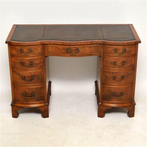 antique leather top desk antique burr walnut leather top desk antiques atlas