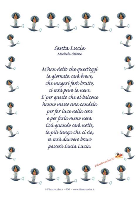 cornici per poesie idea regalo per santa lucia poesia in cornice quot santa