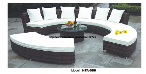 circle patio furniture circular arc sofa half furniture healthy pe rattan garden furniture sofa set luxury garden