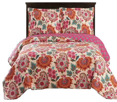 Lightweight Quilt Sets Tamiya Floral Pattern Lightweight Oversized Quilted