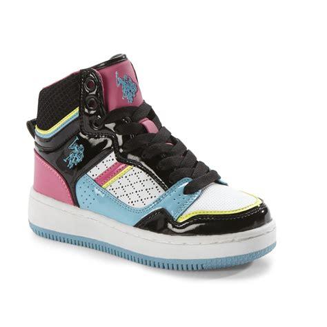 Eliza Sneaker u s polo assn s eliza high top basketball shoe black multi shop your way