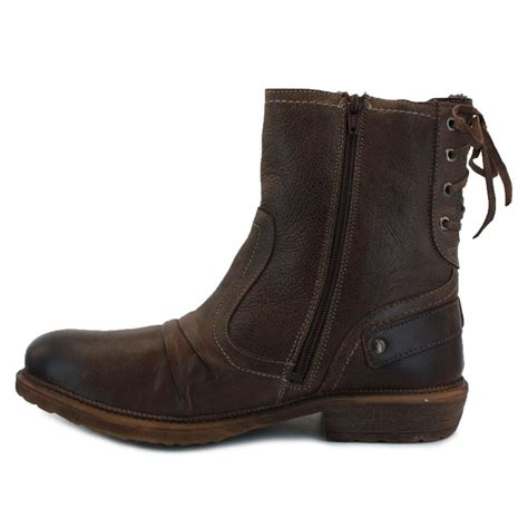 biker boots for sale mustang 4834 603 32 mens zip synthetic leather biker boots