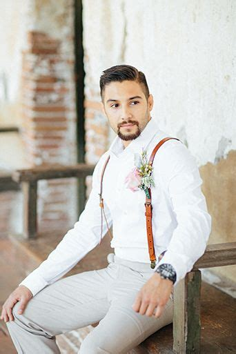 mens wedding attire with suspenders san juan capistrano wedding groom suit with white