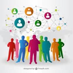 people social media interaction vector vector free download