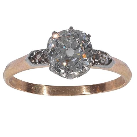 single engagement ring single solitaire engagement ring at 1stdibs