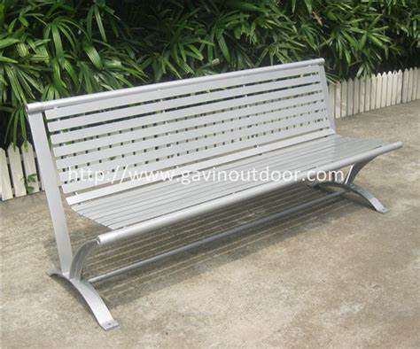 long outdoor bench 6 feet long powder coated galvanized metal outdoor bench