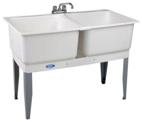 plastic kitchen sinks 46 in x 34 in plastic laundry tub contemporary