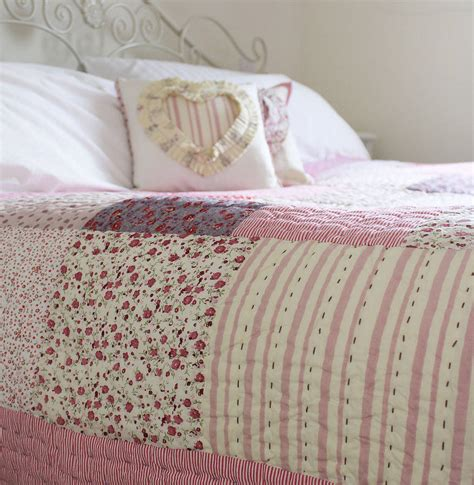 patchwork bedding vintage patchwork quilt by lime tree notonthehighstreet