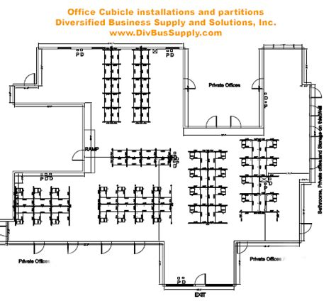 cubicle floor plan office cubicle layouts images