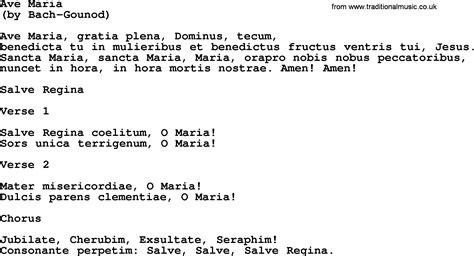 ave testo canzone catholic hymns song ave lyrics and pdf