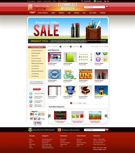 Latest Free Web Page Templates Psd 187 Css Author E Commerce About Us Template