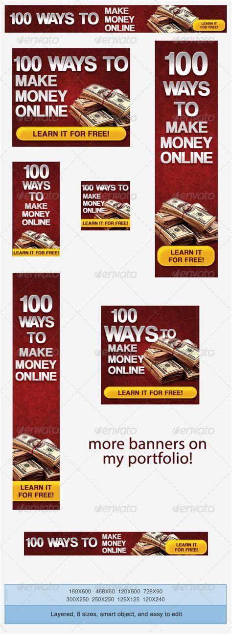 Making Money From Online Advertising - make money online banner ad template graphicriver