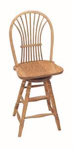 Oak Bar Stool With Back Keystone Wheat Back Swivel Barstool From Dutchcrafters Amish Furniture