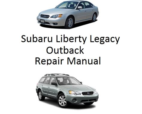 subaru liberty legacy outback repair manual