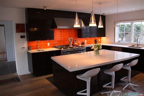 orange and white kitchen ideas d 233 jate llevar por el color naranja y negro en tu cocina
