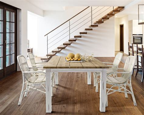 tavolo legno bianco tavolo legno shabby chic teak etnico outlet mobili etnici
