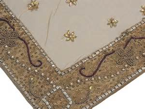 beaded tablecloth gold home decorator tablecloth designer beaded india table