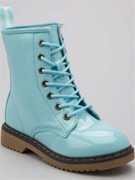 blue combat boots baby blue combat boots didi