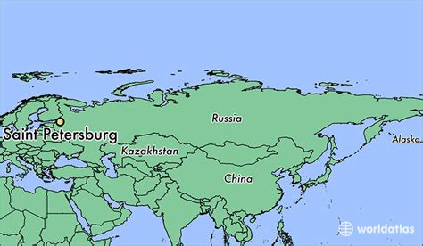 st petersburg on world map where is petersburg russia where is