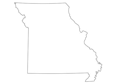 Missouri State Outline by Missouri Map Outline Afputra
