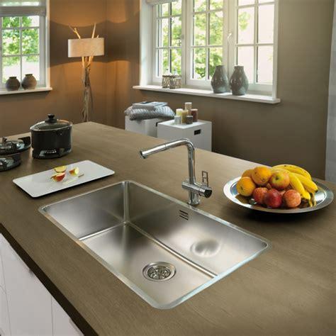 reginox ohio 80x42 integrated stainless steel kitchen sink
