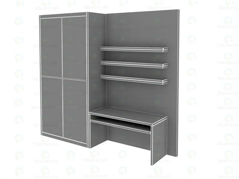 wall units for small bedrooms 3d model built in wall unit for small bedrooms download