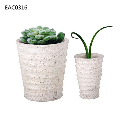 Decorative Ceramic Planters by Decorative Moire Surface Ceramic Handemade Concrete