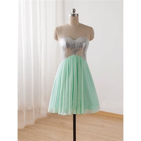 Handmade Prom Dresses - pretty handmade mint sequins prom dresses 2015