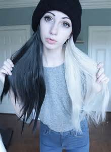 black and white hair color 1000 ideas about half dyed hair on half and