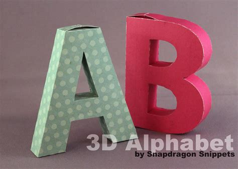 3d letter templates paper crafts