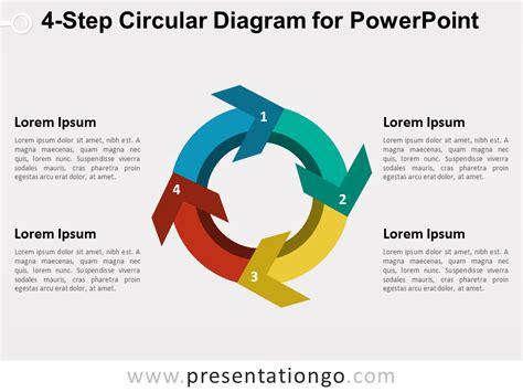 4 step 3d circular diagram template for powerpoint 4 step circular diagram for powerpoint presentationgo