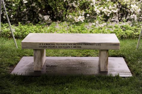 college bench jenny holzer sculpture arrives on barnard s cus