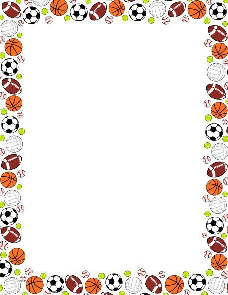 lined paper with sports border 17 best images about borders and frames on pinterest