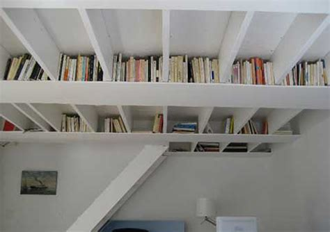 unique ceiling bookshelf ideas iroonie