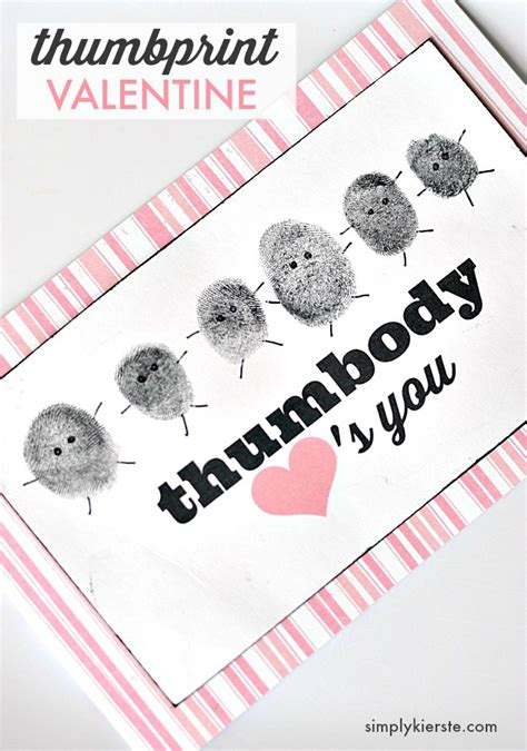 Give Your A Blume This V Day by Quot Thumbody Quot You Thumbprint Valentines