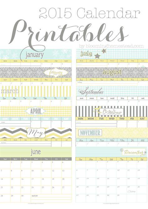 design free calendar 2015 2015 calendar blooming homestead