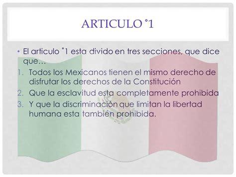articulo de la constitucion que habla de los derechos escrito por mavy zambrano ppt descargar