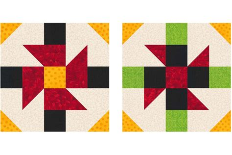 Square Patchwork Patterns - 10 inch patchwork quilt block patterns
