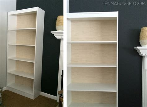 how to make a laminate bookcase look like a built in