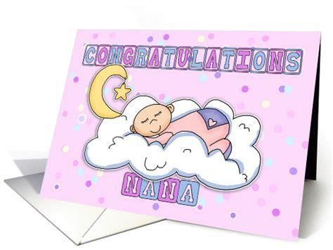 Nana New Baby Girl Congratulations card (620854)